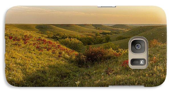 Galaxy Case featuring the photograph A Flint Hills View by Scott Bean