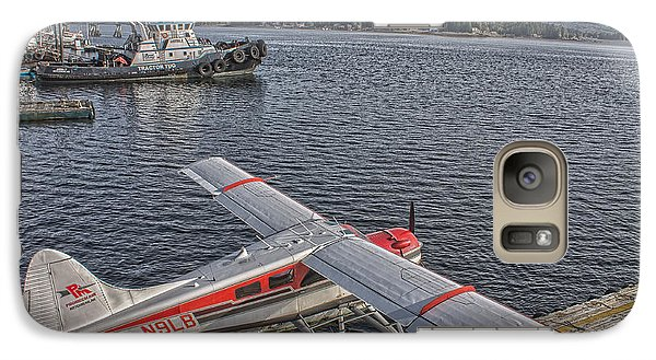 Galaxy Case featuring the photograph A Float Plane Sits At The Dock In Alaska by Timothy Latta