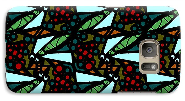 Galaxy Case featuring the digital art A Fly Of Sorts And Berries by Elizabeth McTaggart
