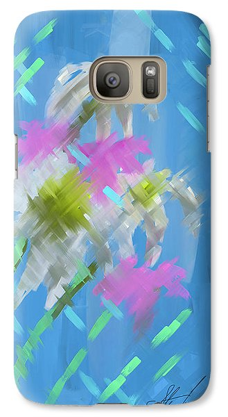 Galaxy Case featuring the painting A Focus On Flowers by Steven Lebron Langston