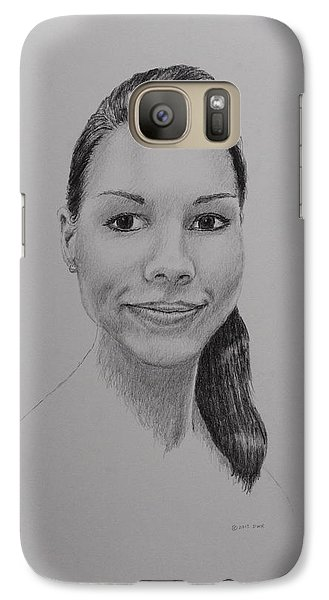Galaxy Case featuring the drawing A G by Daniel Reed