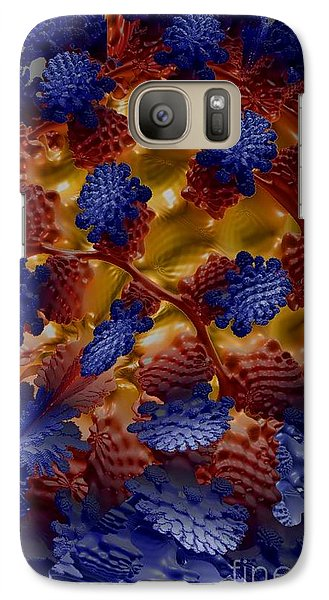 Galaxy Case featuring the digital art A Garden In The Afterlife by Steed Edwards