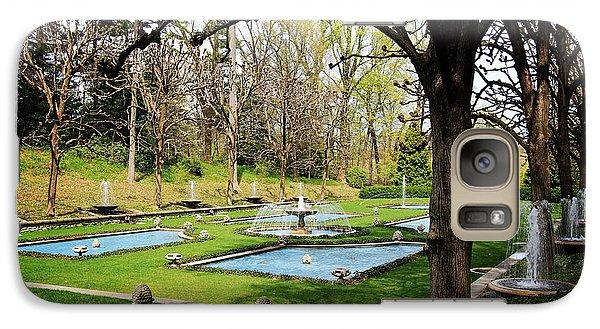Galaxy Case featuring the photograph A Garden Of Fountains by Trina  Ansel