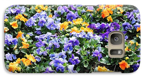 Galaxy Case featuring the photograph A Garden Of Lovely Little Faces by Judy Palkimas