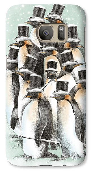 Penguin Galaxy S7 Case - A Gathering In The Snow by Eric Fan