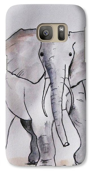 Galaxy Case featuring the painting A Gentle Heart by Trilby Cole