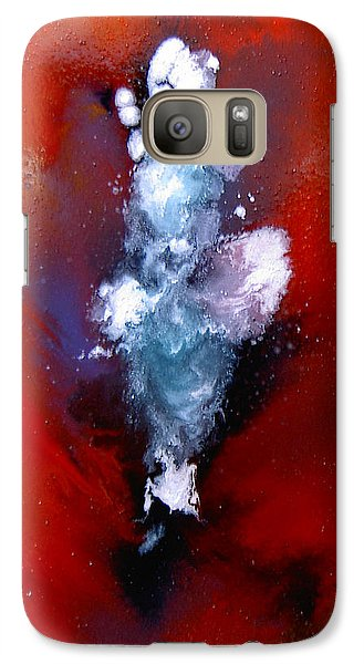 Galaxy Case featuring the painting A  Girl At Sea by Min Zou