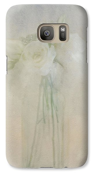 Galaxy Case featuring the photograph A Glimpse Of Roses by Annie Snel