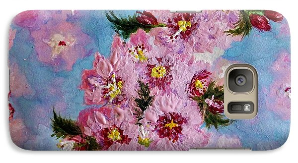Galaxy Case featuring the painting A Glimpse Of Spring... by Cristina Mihailescu