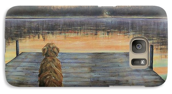 Galaxy Case featuring the painting A Golden Moment by Susan DeLain