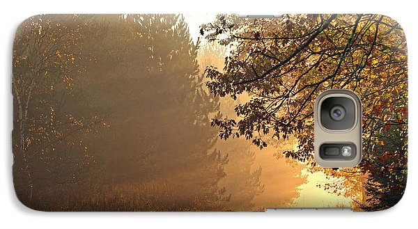Galaxy Case featuring the photograph A Golden Morning by Judy  Johnson