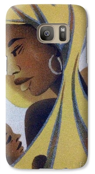 Galaxy Case featuring the photograph A Good Mother by Fania Simon