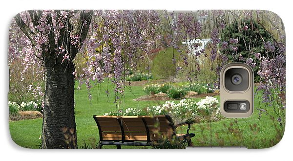 Galaxy Case featuring the photograph A Good Place To Read A Book by Living Color Photography Lorraine Lynch