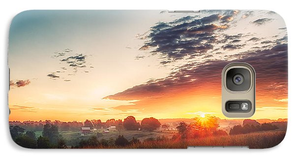 Galaxy Case featuring the photograph A Goode Sunrise by Joshua Minso