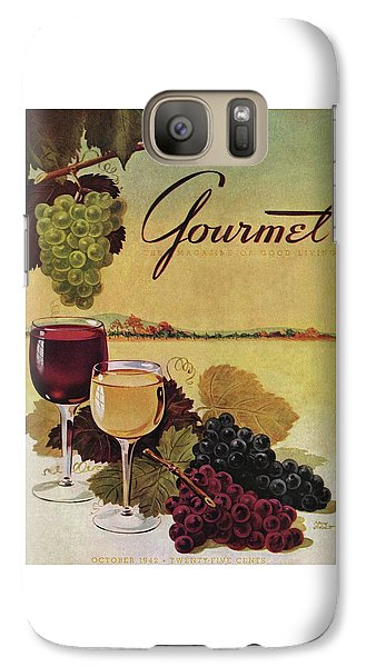 A Gourmet Cover Of Wine Galaxy S7 Case