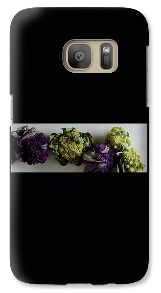 Cauliflower Galaxy S7 Case - A Group Of Cauliflower Heads by Romulo Yanes