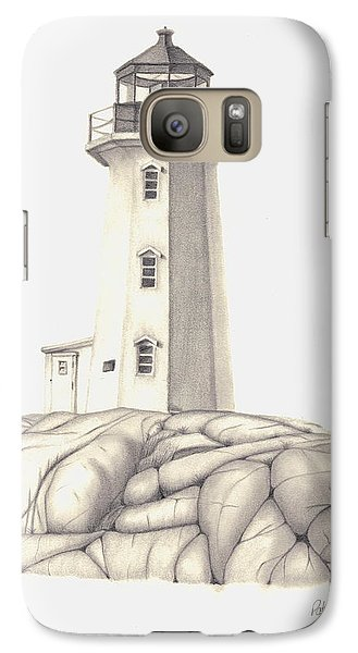 Galaxy Case featuring the drawing A Guiding Light by Patricia Hiltz