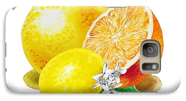A Happy Citrus Bunch Grapefruit Lemon Orange Galaxy S7 Case