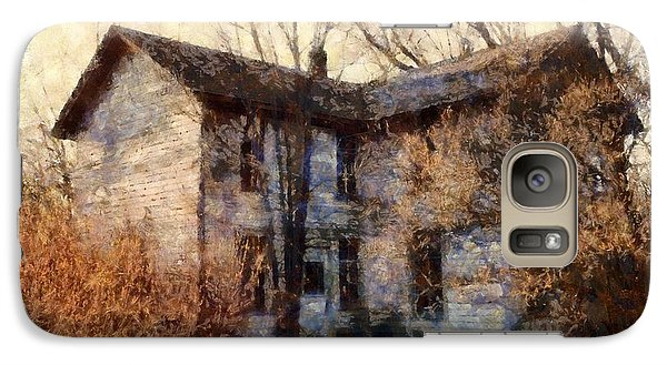 Galaxy Case featuring the photograph A Haunting Melody - Old Farmhouse by Janine Riley