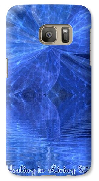 Galaxy Case featuring the painting A Healing In Blue Living Waters by Ray Tapajna