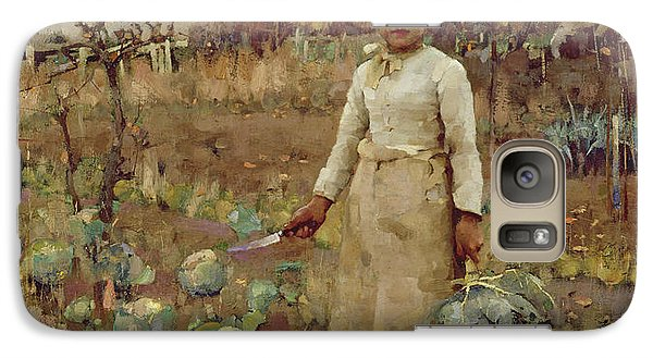 A Hinds Daughter, 1883 Oil On Canvas Galaxy S7 Case by Sir James Guthrie