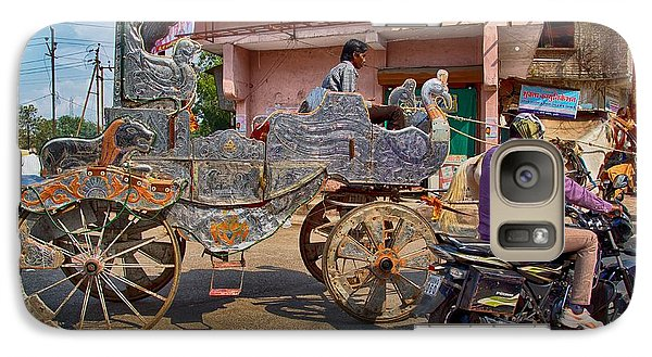 Galaxy Case featuring the photograph A Horse-drawn Cart Of A Different Color 1 by John Hoey