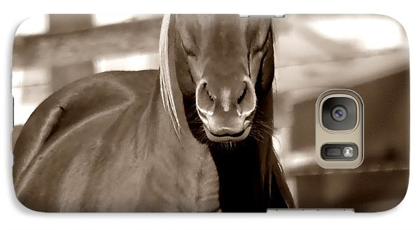 Galaxy Case featuring the photograph A Horse Is A Horse by Deena Stoddard