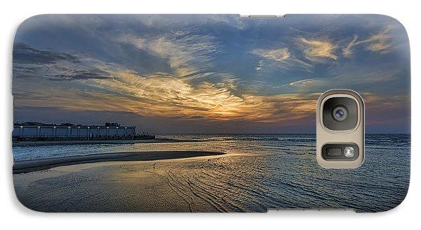 Galaxy Case featuring the photograph a joyful sunset at Tel Aviv port by Ron Shoshani