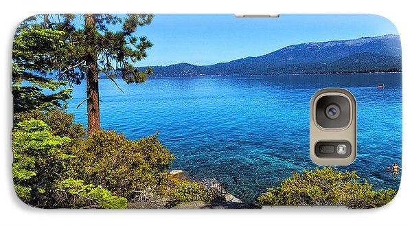 Galaxy Case featuring the photograph A Jump On Summer by Nancy Marie Ricketts