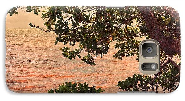 Galaxy Case featuring the photograph A Keys Sundown by Joetta West