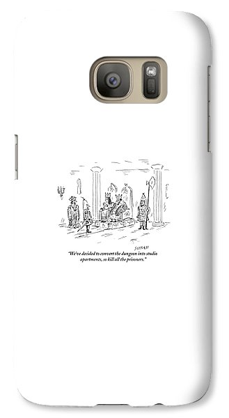 Dungeon Galaxy S7 Case - A King And Queen In The Royal Court Give Orders by David Sipress
