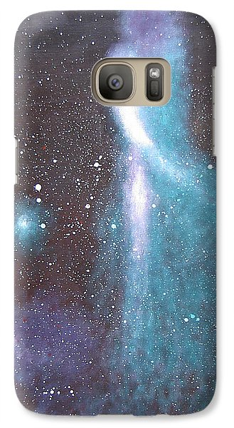 Galaxy Case featuring the painting A Lady by Min Zou
