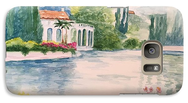 Galaxy Case featuring the painting A Lake In Tuscany by Lucia Grilletto