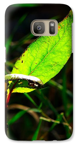 Galaxy Case featuring the photograph A Leaf... by Tim Fillingim