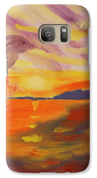 Galaxy Case featuring the painting A Leap Of Joy by Meryl Goudey