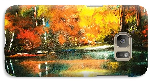 Galaxy Case featuring the painting A Light In The Forest by Al Brown