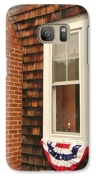 Galaxy Case featuring the photograph A Light In The Window by Jean Goodwin Brooks
