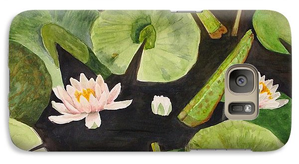 Galaxy Case featuring the painting A Lily Pond by Nancy Kane Chapman