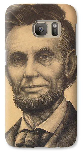 Galaxy Case featuring the drawing A. Lincoln by Bob  George