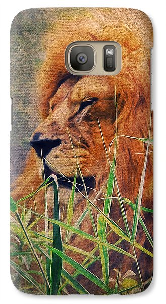 A Lion Portrait Galaxy S7 Case by Angela Doelling AD DESIGN Photo and PhotoArt