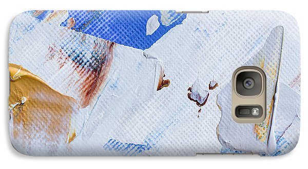 Galaxy Case featuring the painting A Little Blue by Heidi Smith