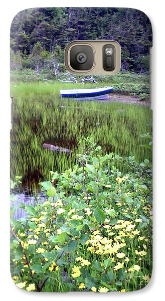 Galaxy Case featuring the photograph A Little Flat Awaiting by Barbara Griffin