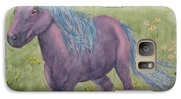 Galaxy Case featuring the painting A Little Girls Imagination Pony by Kelly Mills