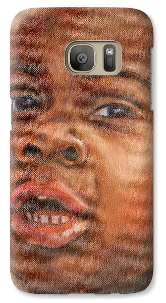 Galaxy Case featuring the painting A Little New Yorker by Xueling Zou