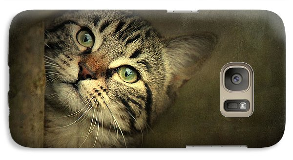Galaxy Case featuring the photograph A Little Shy by Annie Snel