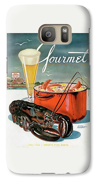 A Lobster And A Lobster Pot With Beer Galaxy S7 Case