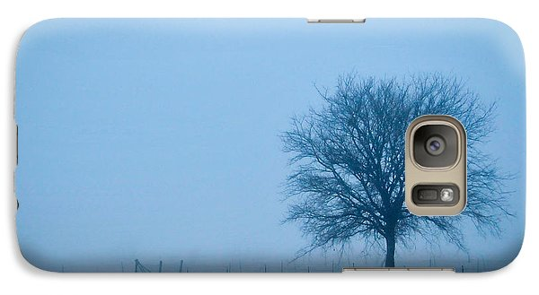 Galaxy Case featuring the photograph A Lone Tree In The Fog by David Perry Lawrence