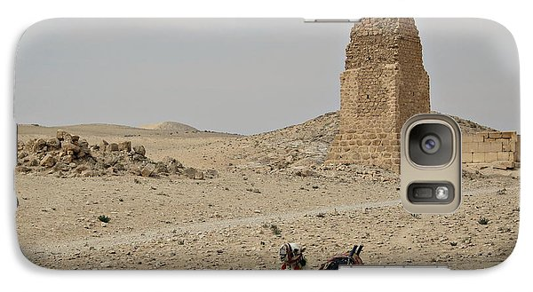 Galaxy Case featuring the photograph A Lonely Camel by Cendrine Marrouat