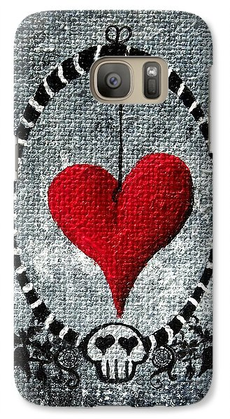 Galaxy Case featuring the painting A Love Story 5 by Oddball Art Co by Lizzy Love