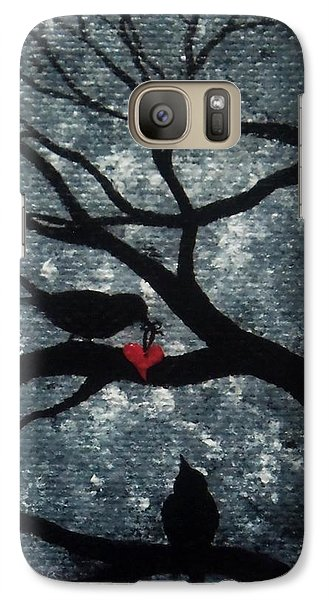 Galaxy Case featuring the painting A Love Story No 7 by Oddball Art Co by Lizzy Love